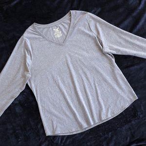 FADED GLORY NWOT Gray Long Sleeved Tee Top  2X